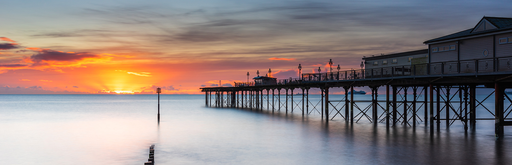Teignmouth Pier And Sunset
