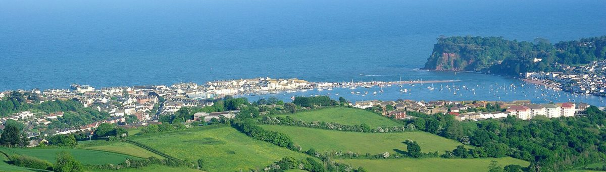View of Teignmouth and headland