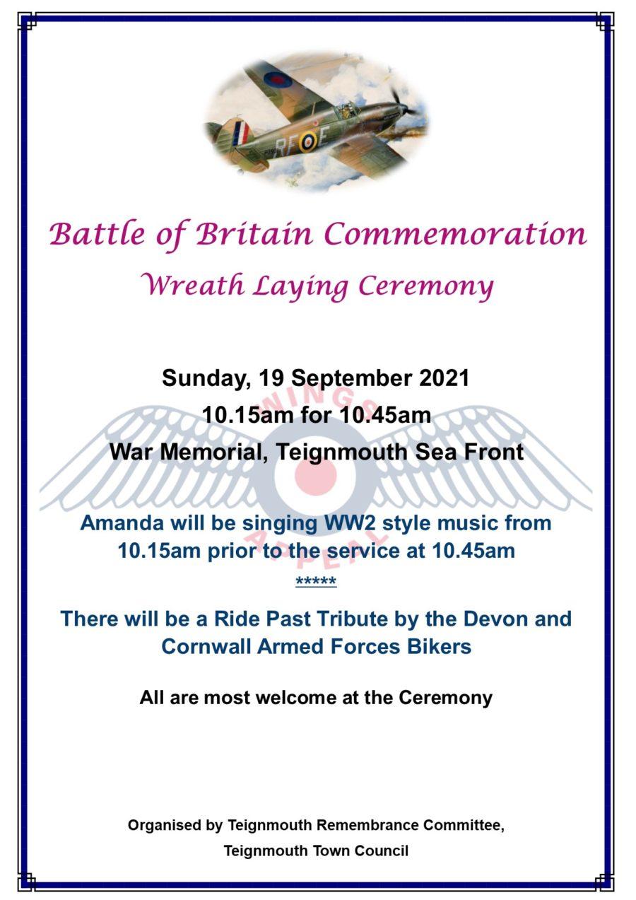 Battle Of Britain Commemoration Poster 2021